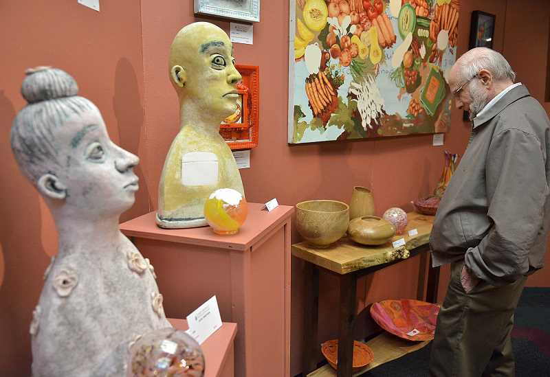 Tom Griffith checks out the 'Spoon: Culinary Inspired Art' special exhibit at the Lakewood Center.