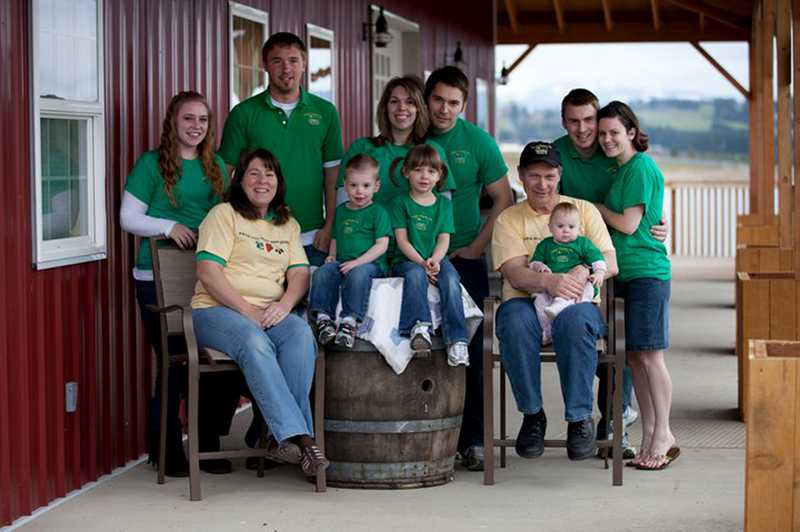 by: COURTESY PHOTO - There are no fewer than 11 members of the extended Unger family, which operates a fourth-generation farm in Cornelius and participates in several area farmers markets.
