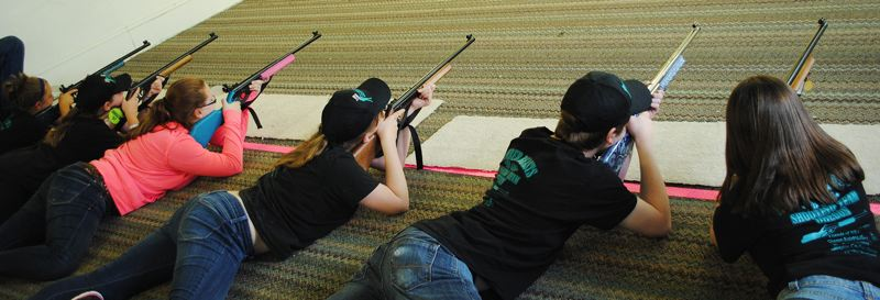 by: NEWS-TIMES PHOTO: STEPHANIE HAUGEN - Members of the Timber Beasts practice in Forest Grove last week in preparation for an upcoming trip to the Daisy National BB Gun Championship Match in Rogers, Ark.