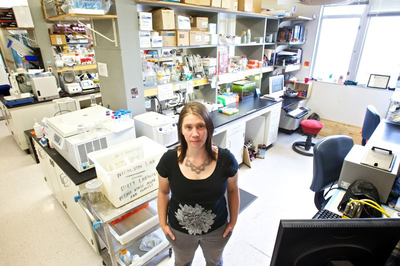 by: TRIBUNE PHOTO: JAIME VALDEZ - OHSUs Rachel Clemens-Grisham anticipated a future in scientific research, but with federal funding cuts for science she and colleagues are looking atalternative careers.