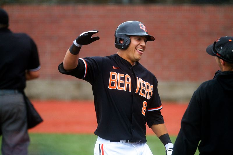 by: COURTESY OF ETHAN ERICKSON - Outfielder Michael Conforto is one of several key components expect back at Oregon State for the 2014 season, but the Beavers have plenty of holes to fill.