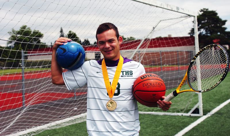 by: DAN BROOD - MULTI-TALENTED -- Brian Josephson competed in soccer, basketball and tennis as a Tigard senior.