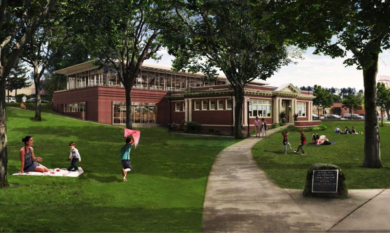 by: RENDERING COURTESY: CITY OF OREGON CITY - Pictured is an architectural vision of the Oregon City Carnegie Library praised by leaders last month. Matt Love read a longer version of this Community Soapbox on June 22 at the 100th anniversary party for the Cargenie building.