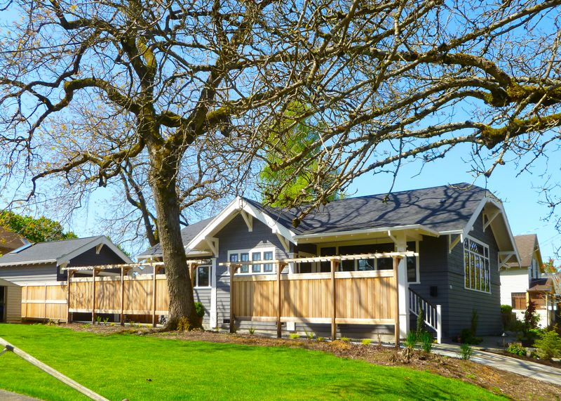 by: EILEEN G. FITZSIMONS - In the spring of 2013, the 1915 Sellwood Library structures rehabilitation was complete - ready for its new owner to move in. Even the enormous ash tree was saved.
