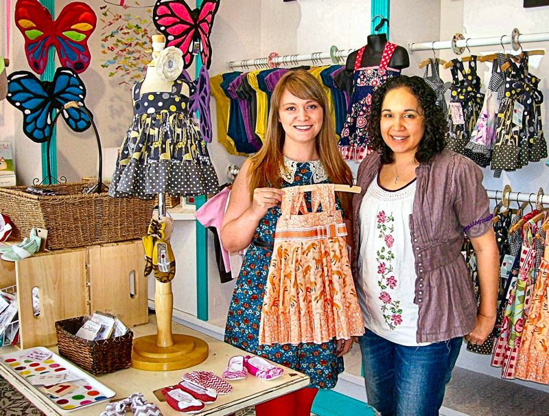 by: RITA A. LEONARD - Staci Hillman and Roxanne Borras in early June opened Hooray Haroo, a childrens boutique, in Sellwood.
