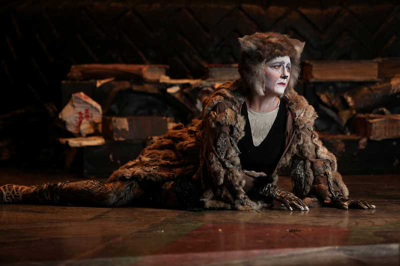 by: COURTESY PHOTO: CRAIG MITCHELLDYER - Amy Jo Halliday plays Grizabella, who sings the most well-known song from the show, Memory.