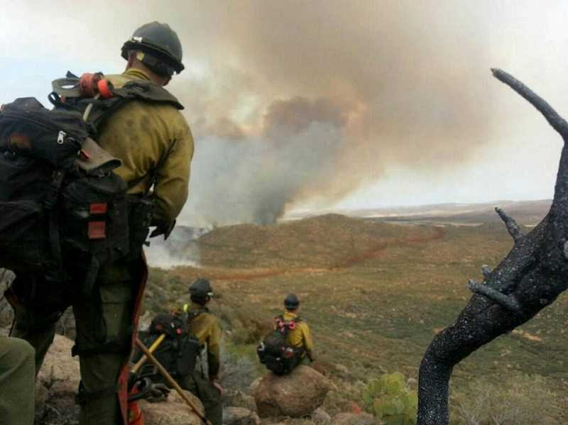 by: PRESCOTT GRANITE MOUNTAIN HOTSHOTS - This is the final photo Arizona firefighter Andrew Ashcraft texted to his wife before persishing in the Yarnell Hill fire.