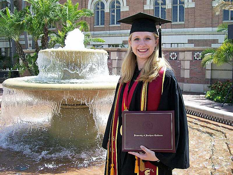 by: SUBMITTED PHOTO - Lakeridge High School graduate Allyson Brown recently earned her bachelors at the University of Southern California.