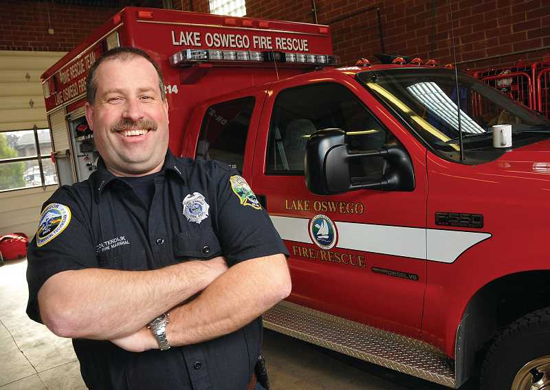 by: VERN UYETAKE - Gert Zoutendijk is excited about his new challenge as fire marshal for Lake Oswego.
