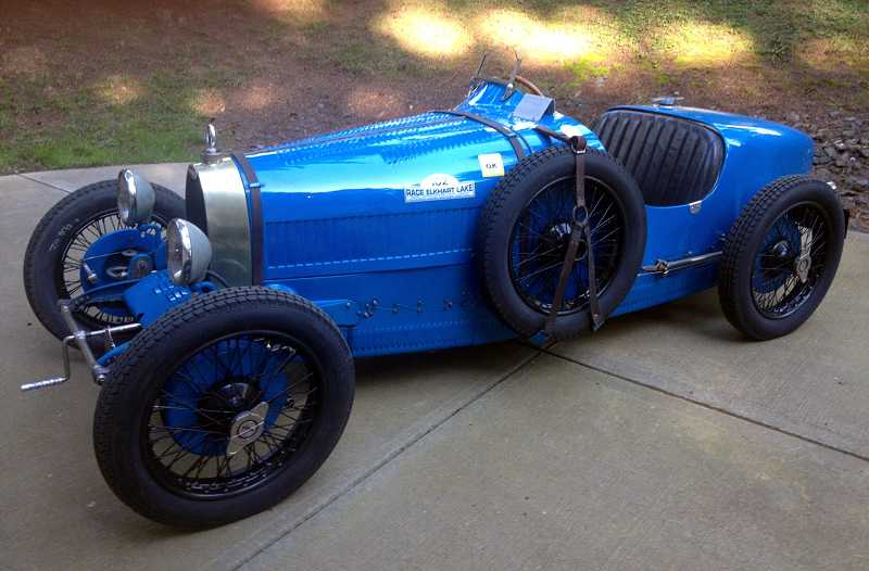 by: COURTESY PHOTO - Bob Ames of Portland bought this 1927 Type 37 Bugatti Grand Prix in February, less than a month after finding it. After years of saving and searching, he met a man in Paris last winter who had seen Ames dream car in Vermont. Ames left France, flew to South Africa, returned to Portland - and promptly left for Vermont to take a look at the Bugatti hed been waiting for. The blue racing model will join about 35 vehicles Ames has shown in the Forest Grove Concours dElegance since its inception 41 years ago. Ames doubts this car will take home Best of Show in its Concours debut July 21 - as some of his other favorites have - because it falls into a preservation class, which puts it at a disadvantage to shined-up, fully restored cars. Ames said its dimpled and road-rashed patina adds authenticity and a sense of the cars real-life use. Ames has served as a judge at Concours in past years and travels the world viewing rare automobiles at auctions and shows. Most of the cars hes shown at Concours have since been sold, but he holds onto a prize-winning Alfa Romeo and aid the Bugatti is his for good.