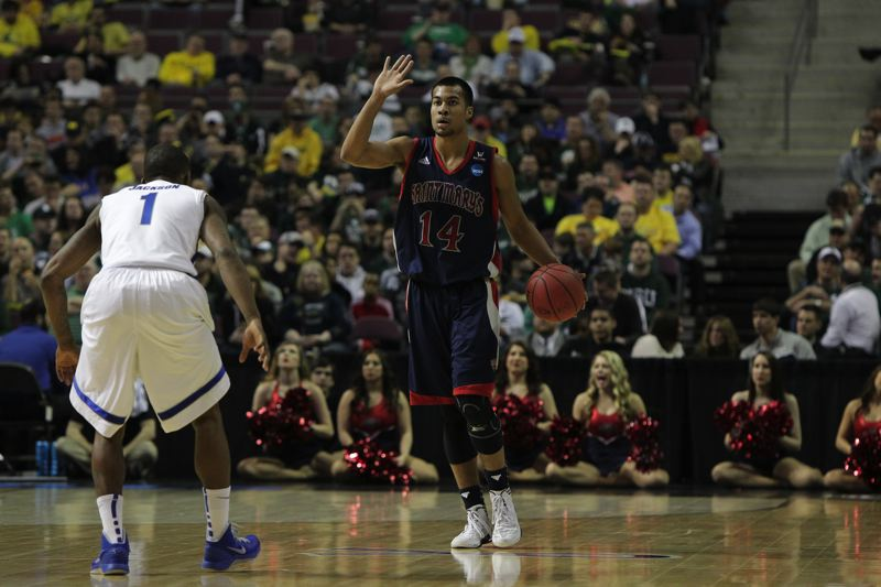 by: COURTESY PHOTO: SAINT MARYS COLLEGE ATHLETICS - Former Jesuit point guard Stephen Holt played in the NCAA tournament for the second time in his career for the St. Marys Gaels.