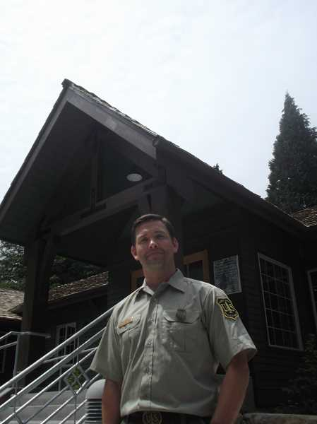 by: POST PHOTO: NEIL ZAWICKI - Acting Zigzag District Ranger Mike Brown says the new visitor center will both consolidate and expand services.