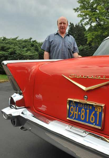 by: TIDINGS PHOTO: VERN UYETAKE - Don Weathers rarely drives his 1957 Chevy Bel Air, but he says he'll never sell it.