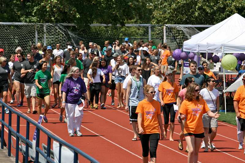 by: ERIC SAMUELSON - The head count this year's Relay for Life was 272, plus more than 100 walk-ins who came to join their friends and family after the event started.