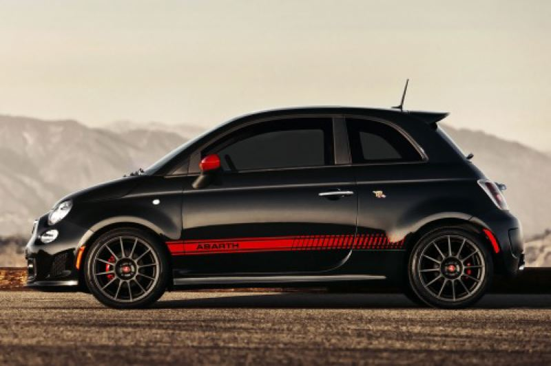 by: FIAT AUTO GROUP - The Fiat 500 Abarth is not subtle, coming  or going.
