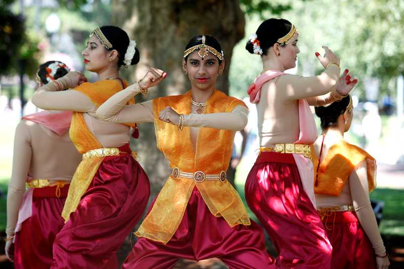 by: TIMES PHOTO: JONATHAN HOUSE - The Natya Leela Dancers perform 'Epic' during the Ten Tiny Dances event.
