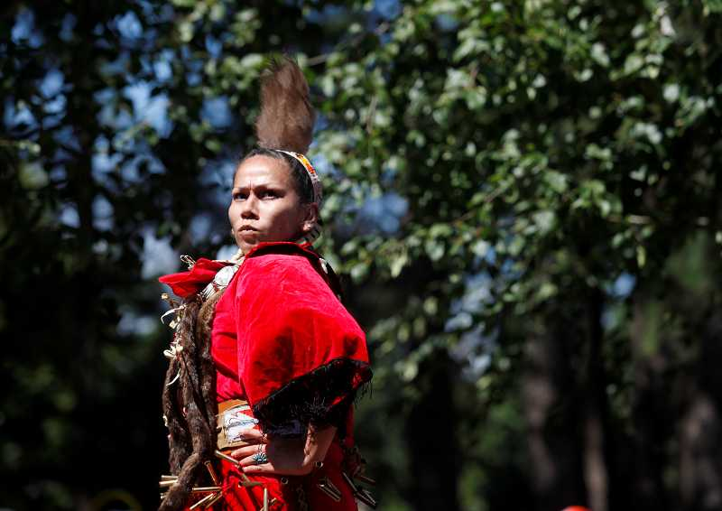 by: TIMES PHOTO: JONATHAN HOUSE - Betty Stephens of the Dine Tribe performs 'The Dance.'