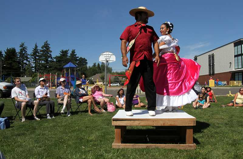 by: TIMES PHOTO: JONATHAN HOUSE - Ballet Folklorico performs 'The Traditional Huasteca Wedding.'