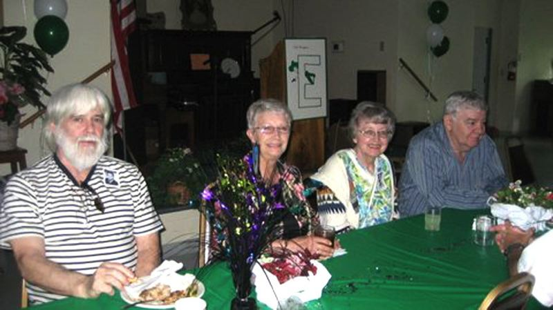 by: CONTRIBUTED - Lee Abbott, Jewel Seal, Deanna and Rick Owen enjoy the 50-year reunion of the Estacada High class of 1963.