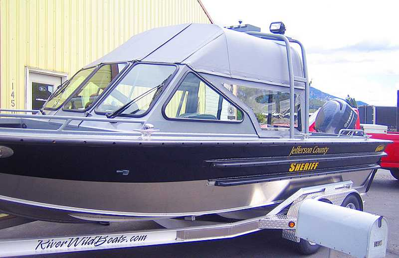 by: SUBMITTED PHOTO - The Jefferson County Sheriff's Office will soo receive a 21-foot River Wild aluminum boat as part of the Marine Board's replacement program.