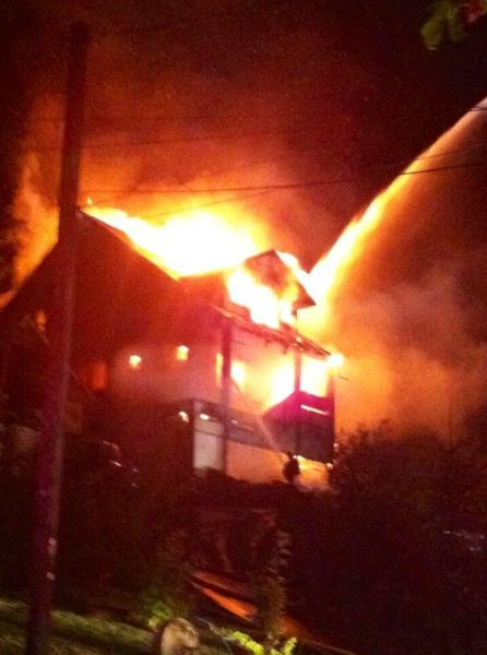 by: KOIN 6 NEWS - A two-alarm fire engulfs a home in Oregon City on Tuesday, July 16.