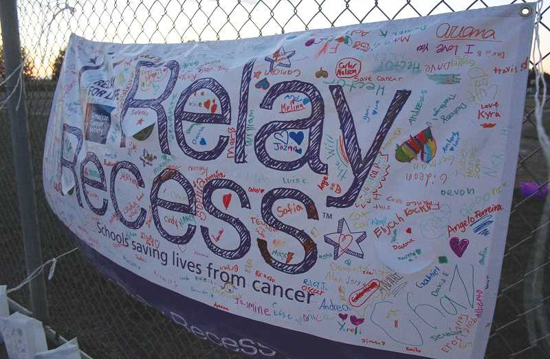 by: NIKKI DEBUSE - Local schoolchildren supported Woodburn Area Relay for Life through school fundraisers.