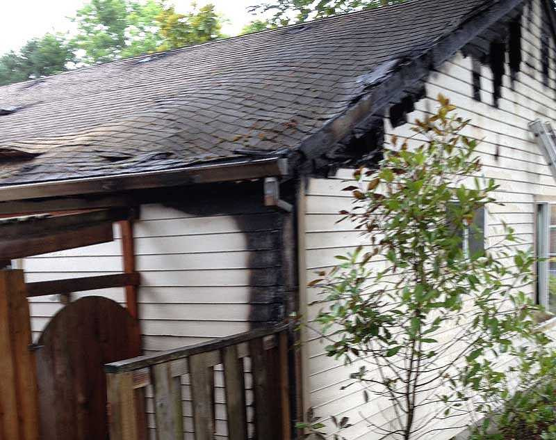 by: SUBMITTED PHOTO - An early morning fire caused some damage to a Tigard home, but residents escaped without injury.