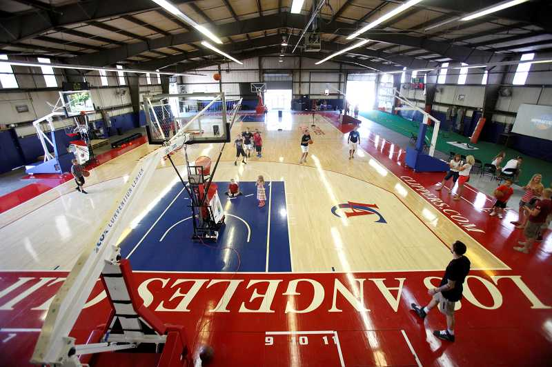 The Practice Facility has reclaimed an old NBA floor from the Los Angeles Clippers.