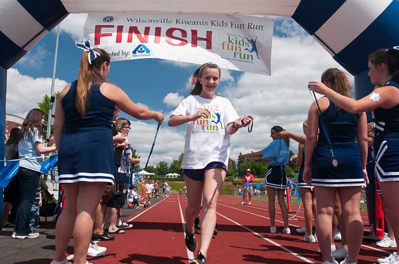 by: JOSH KULLA - The 10th annual Kiwanis Kids Fun Run will take place Saturday, July 27, at the Wilsonville High School track from 8:45 a.m. to 1 p.m. The event will begin with a ceremonial opening parade at 9 a.m. and the first heat will be the 'Run of the Mascots.'