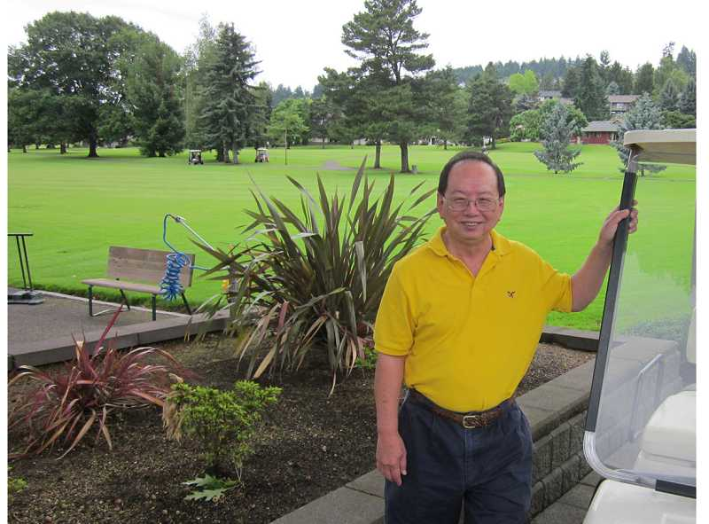 by: BARBARA SHERMAN - STAYS BUSY ON AND OFF THE GOLF COURSE - Paul Tee enjoys golfing with the King City Men's Golf Club even though he calls his handicap 'terrible.'