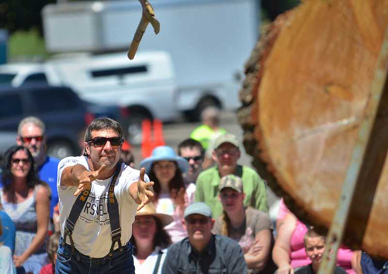by: VERN UYETAKE - The lumberjack show as Sunday.