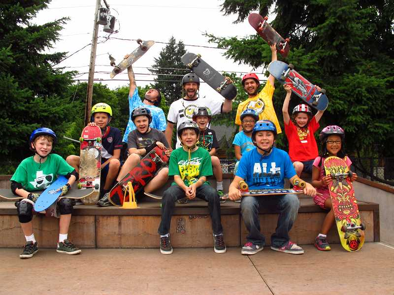 by: SUBMITTED PHOTO - Youths of ages and abilities can improve their skateboard skills at the Lake Oswego Skate Park this summer.