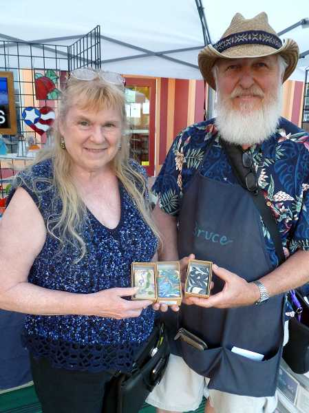 by: COURTESY PHOTO - Dorie and Bruce Horne sell their soaps, oils and other scented creations at the Forest Grove Farmers Market on Wednesdays, along with other area markets.