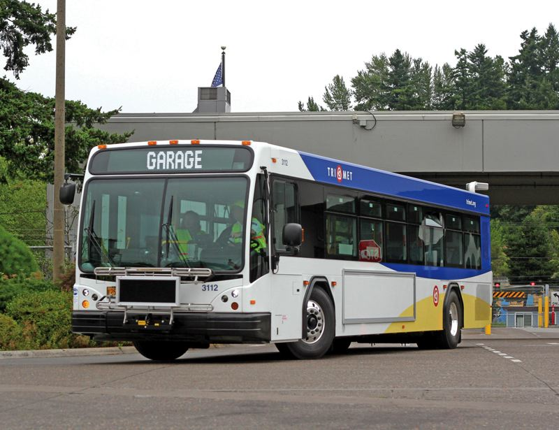 by: TIMES PHOTO: JONATHAN HOUSE - TriMet's new buses will replace older models in the agency's fleet.