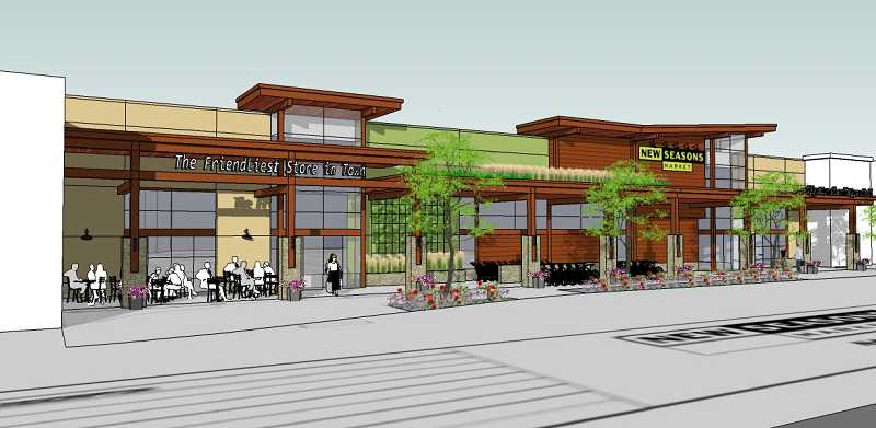 by: SUBMITTED PHOTO - New Seasons Market provided a rendering of its newest location in the Nyberg Rivers development. The market is slated to open in fall 2014.