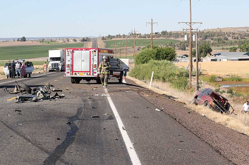 by: HOLLY M. GILL - A head-on crash on U.S. Highway 97 on Friday resulted in the death of two drivers. The highway was closed completely for more than two hours while Oregon State Police investigated.