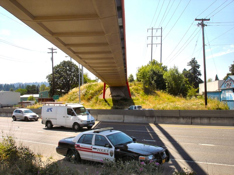 by: COURTESY OF THE MILWAUKIE POLICE DEPARTMENT - Scene of attempted bridge jump
