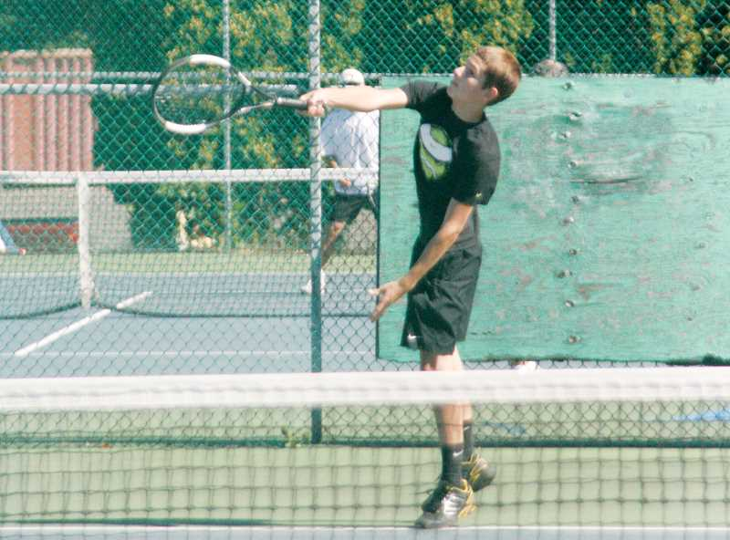 by: PHIL HAWKINS - North Marion High School sophomore Ethan Berkey won the 3.5/4.0 Singles champion
