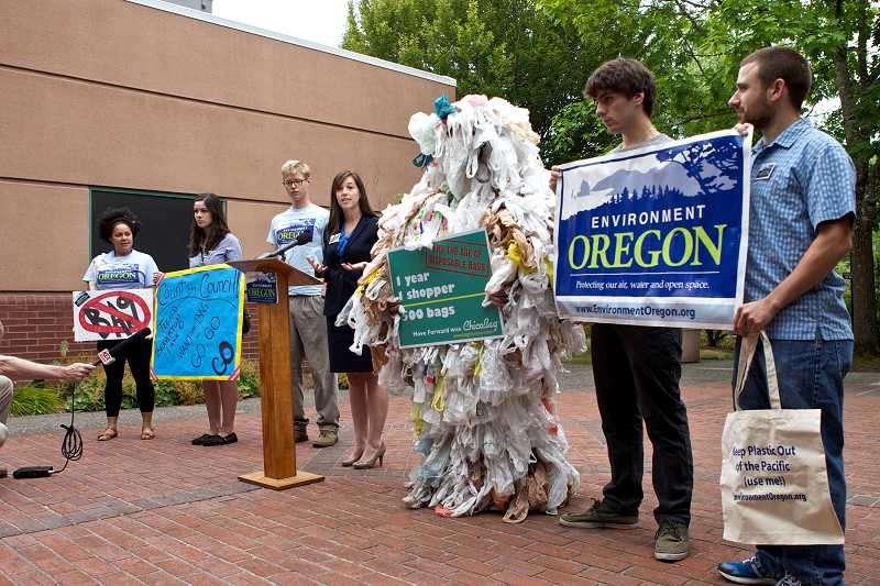by: TIMES PHOTO: JAIME VALDEZ - Portland-based Environment Oregon is hoping to ban plastic bags in Beaverton, Tigard and Lake Oswego. Portland banned plastic bags from grocery stores and some big-box retailers in 2011.