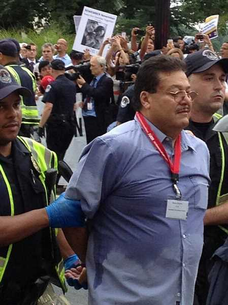 by: SUBMITTED - PCUNs Ramon Ramirez, president of Woodburn-based PCUN farmworkers' union, was arrested Thursday morning on Capitol Hill in Washington D.C. for protesting delays in immigration reform.