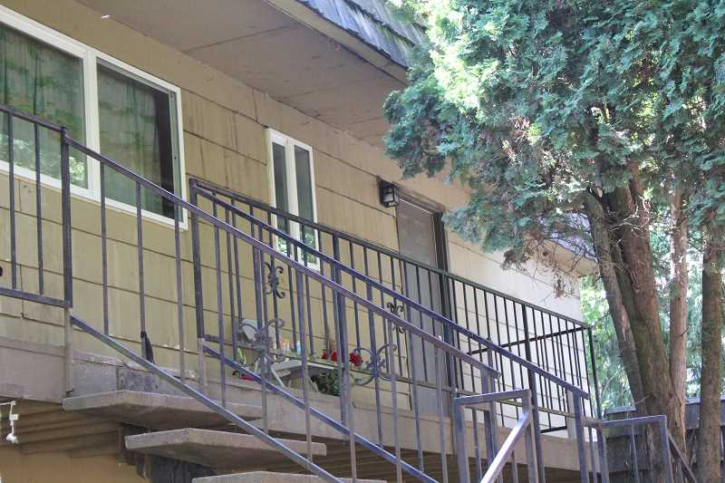 by: JEFF MCDONALD  - The Victorian Apartments on James Street were the location of a fatal stabbing early Sunday morning. The victim, Juan Pedro Bravo Luna, 23, lived in this upstairs apartment.