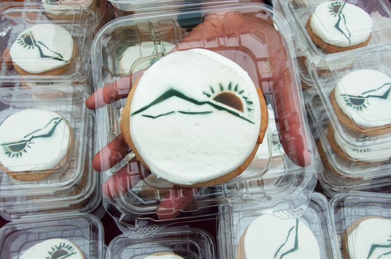 by: PHOTO COURTESY: ODOT - Cookies at the groundbreaking event showed an image of the new road.
