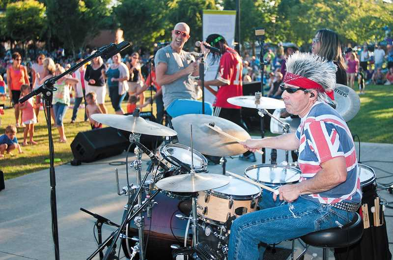 by: JOSH KULLA - The Wilsonville Rotary Summer Concert Series wraps up (already?!) at 6:30 p.m. Thursday, Aug. 8, with a performance from Hit Machine, a popular Portland cover band. Free, open to the public. Details: wilsonvillerotary.com/concerts.