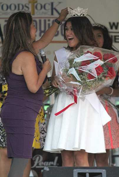 by: LINDSAY KEEFER - Melissa Escalona is crowned the 2013 Fiesta Queen in a Friday night ceremony.