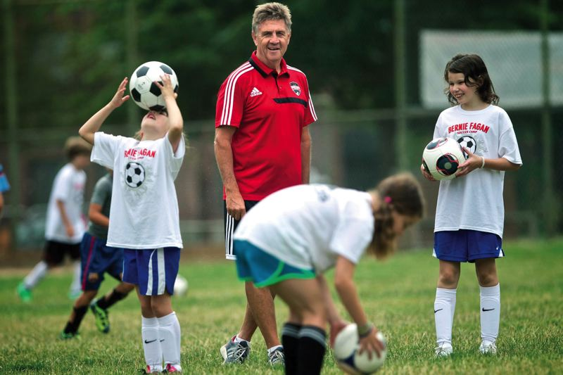 by: TRIBUNE PHOTO: JAIME VALDEZ - Warner Pacific College and youth soccer coach Bernie Fagan continues to be a fixture in the sport in Portland,  where he has been since joining the Timbers in 1980.