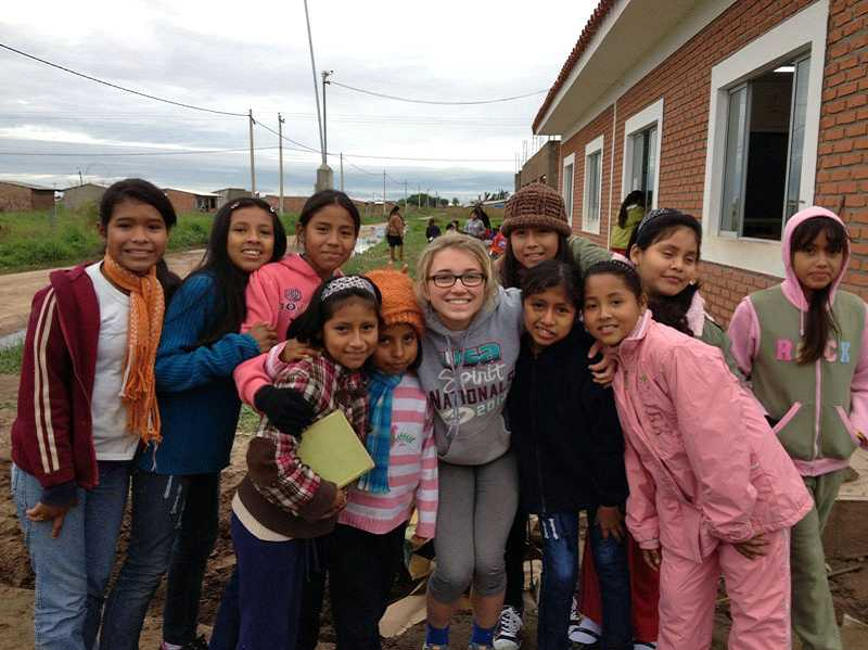 by: SUBMITTED PHOTO - Lake Oswego High School student Sydney Cottle worked with children this summer in Bolivia.