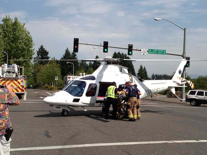 by: CLACKAMAS COUNTY SHERIFFS OFFICE - One of the accident victims was airlifted to Oregon Health & Science University Hospital. Both girls were listed in fair condition as of Tuesday afternoon.