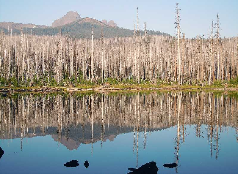 by: PHOTO BY SCOTT STAATS - Jack Lake shows the reflection on Three Fingered Jack.