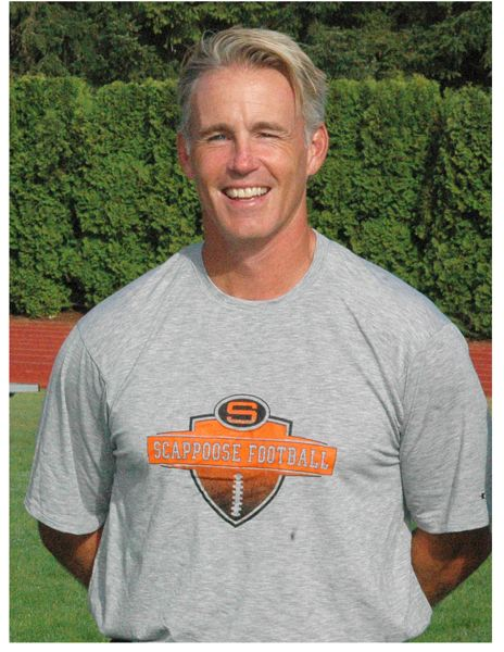 by: JOHN BREWINGTON, SPOTLIGHT FILE PHOTO - Sean Mcabb, Scappoose Head Football Coach