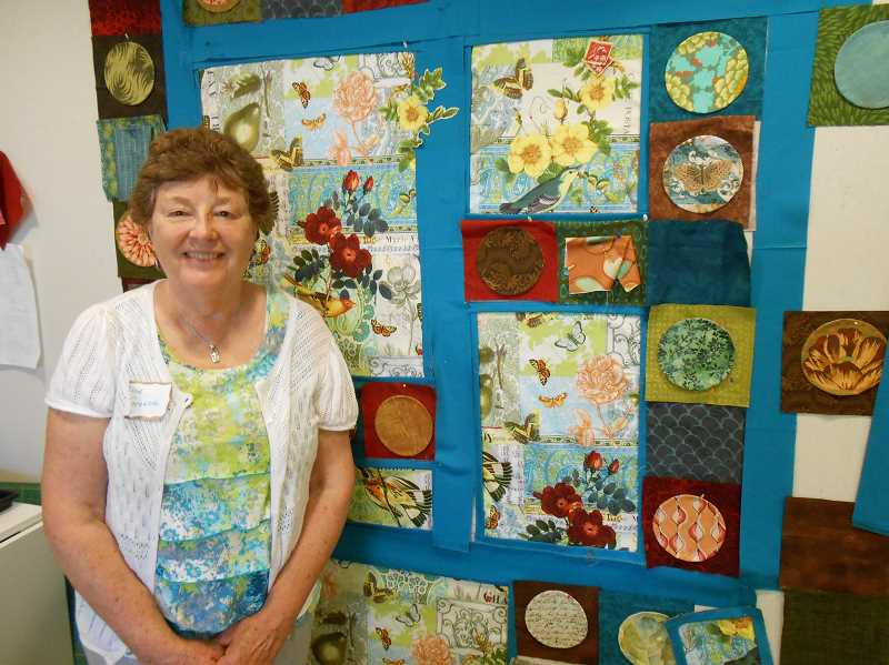 by: CLIFF NEWELL - Alice Greene makes her home the haven for the Oswego Quilters. They meet every Tuesday for quilting, food and friendship.